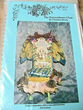 Extraordinary Chair~Christine Shively~for cloth & other Dolls~pattern Rare & Oop
