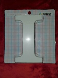 KidKraft 8 Inch White Wooden Letter 'I' - Hangs or Stands