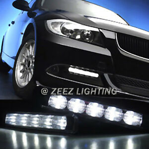 High Power Ultra Bright White LED Daytime Running Light Kit DRL Fog Lights C99