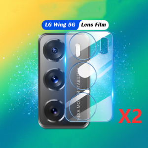 2PCS Full Cover Camera Lens Cover Tempered Glass Screen Protector For LG Wing 5G