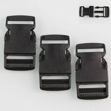 Hot 10x Black Plastic Side Quick Release Buckle Clip –Cord Strap Backpack Bag