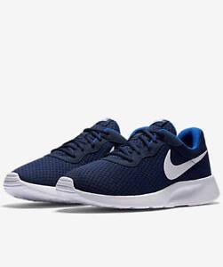 Nike Tanjun Running Shoes Navy/Royal White 812654 414 Men's Fast Shipping