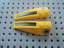 Lego 2 x Keilstein Flügel  41747pb056 + 41748pb056  gelb 6x2 Sticker Set 8183