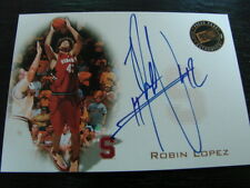 2008 Press Pass Robin Lopez Autograph / Signed Card (B54) Stanford