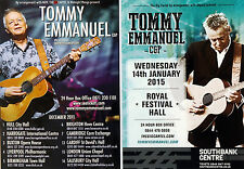 TOMMY EMMANUEL FLYERS X 4 - 2011 UK TOUR & 2015 LONDON ROYAL FESTIVAL HALL