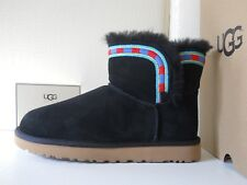 UGG stivaletti donna W Rosamaria Embroidery Black Pelle naturale n38 /5.5UK €190