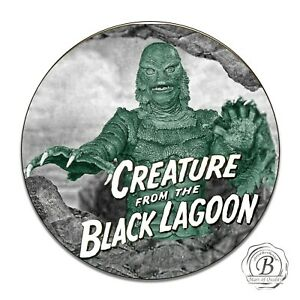 Horror Movie Creature From The Black Lagoon Reproduction Circle Aluminum Sign