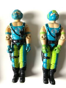 1984 Vintage Gi Joe COPPERHEAD Light Blue Gloves Variant And Regular Figure