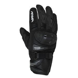 ARMR Moto Shiro S880 Aramid Lined Motorcycle Motorbike Sports Glove - Black