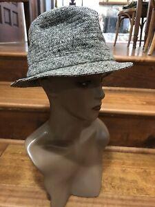 Vintage David Hanna & Sons Wool Tweed Bucket Hat Made In Ireland 7 1/4