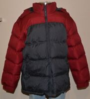 NordicTrack Red Black Hooded Winter Colorblock Puffer Jacket Coat Men's XXL NWT