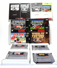 4 SNES Games CIB - Monopoly, Wheel of Fortune, Jeopardy Deluxe & Sports Editions