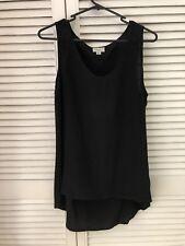 Witchery Black Silk Sleevless Top Size 12
