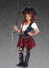 Childrens Deluxe Caribbean Pirate Girl Costume