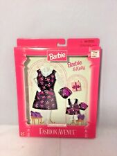 Mattel 1997 Barbie & Kelly Matchin' Styles Flower Dresses- Fashion Avenue-NRFB