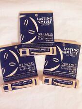 New Lot Of 3 Lasting Smiles Organic Lip Balm Passion Fruit Mango