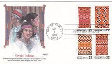 EE. UU. 1986 Navajo Manta de arte que FDC unadressed