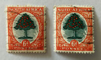 South Africa Posseel 6d Stamp x 2 1929