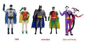 Batman bendable 2 figure set Robin The Joker Harley Quinn