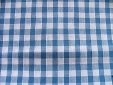 Cotton Fabric - Woven Gingham Check - Royal Blue - Width 115cm - New by Dcf
