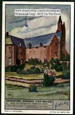 Belgium Abbey Tongerloo Church History Architecture 1930s Trade Ad Card