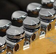 Genuine Korean JINHO Locking Tuner 6 in Line Chrome for Fender Tele Strat Guitar