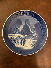 royal copenhagen 1973 blue collectible Christmas Plate