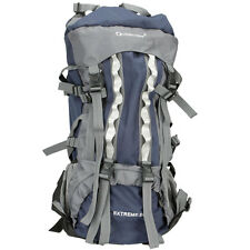 80L Professional Backpack Shoulders Bag Camping Hiking Blue#C4094