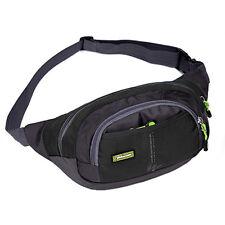 Men Waist Bag Packs Sport Backpack Purse Messenger Bag Running Outdoor Black