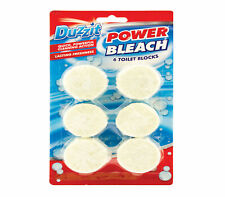 Duzzit Power Bleach Toilet Cleaner Block Tablets Loo Cistern Quick Powerful