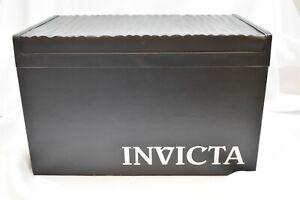 Invicta Black 20 Slot Leather Bound Watch Storage Case