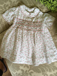 Vintage Handmade Baby Girl Floral Dress 6-9 Months
