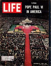 1965 Life October 15 - Pope Paul VI Mass; Arthur Ashe; Sea lab; Volcano Disaster