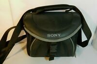 Genuine Sony Camera Lens Shoulder Bag Carry Case Padded Black