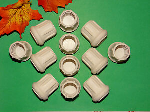 """(16) NEW 1"""" WHITE RUBBER CANE TIPS FOR WALKERS, CRUTCHES, WALKING STICKS, ETC."""