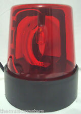 "Red 7"" Lighted Fire Police Light Beacon Rotating Spinning Flashing Party Lamp"