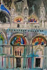 """Stordimento LUKE PIPER originale provenienza John Piper """"San Marco, Venezia"""" Dipinto"""