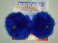"""Pom poms ice skate roller skate pom poms & bells 5 """"s fluffed out"""
