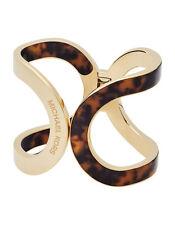 Michael Kors Open Cuff Hinge Bracelet Ladies Tortoise Gold MKJ5553