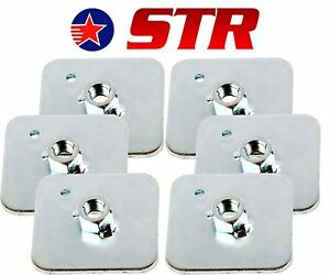 Racing Harness/Seat Belt Mounting Back Plate Backing, Eyelet Plates - x6 Pieces