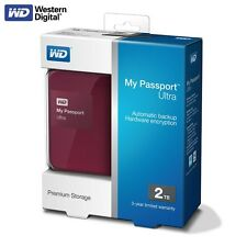 WD My Passport Ultra 2015 2TB Portable External Hard Drive USB 3.0 HDD Berry MP