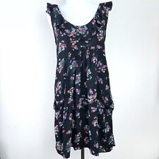 Pins & Needles Urban Outfitters Black Floral Dress Size Small