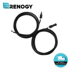 Renogy 10Ft Adaptor Kit PV Solar Cable AWG12 with MC4 Female & Male Connectors