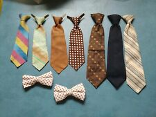 Mixed Lot Of 1970's Vintage Boys Clip-On Bow Ties And Neck Ties