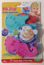 Nuby Bath Animals Six Fun Foam Characters That Stick to the Wall BPA Free New