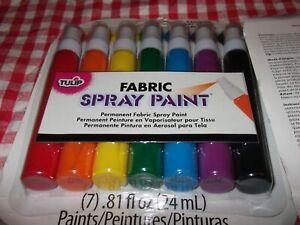 Tulip 29669Fabric 7Sprays 29.5ml Paint Rainbow 2 packs