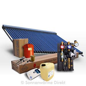 Röhrenkollektor-Solarset 10 m², Heatpipe Kollektoren zur Heizungsunterstützung