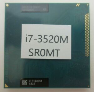 Intel Core i7-3520M 2.9GHz Ivy Bridge Socket G2 Laptop CPU Processor SR0MT