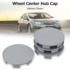 4X 70/64mm Car Auto Wheel Center Hub Cover Cap Gray For Honda Pilot Accord Civic