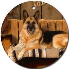 German Shepherd Dog Round Porcelain Ornament Great Christmas Gift Idea